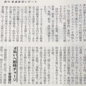 イメージ:【愛媛経済レポートに軽中古車低料金リースの記事が掲載されました】
